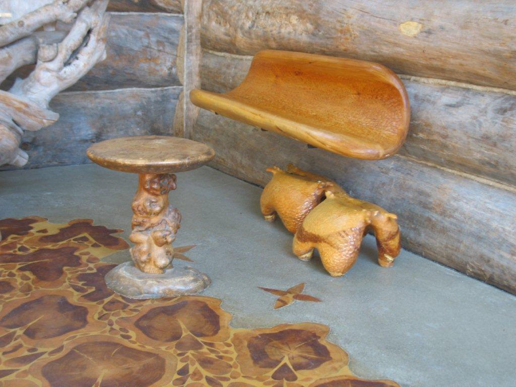 Fußboden Aus Holzscheiben ~ Sie haben alte holzscheiben benutzt um ihren fußboden komplett zu
